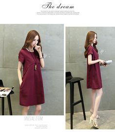 fb31105d23f Hot Sell Cotton Linen Short-sleeved Loose Waist Dress Skirt Female - intl