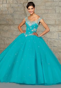 vestidos de 15 anos Quinceanera Dresses 2015 Aqua Cap Sleeve Floor Length Ball Gowns Teal Quinceanera Dresses For 15 Years