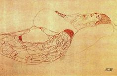 α : Photo Gustav Klimt, Art Klimt, Figure Drawing, Drawing S, Painting & Drawing, Yarn Painting, Art Nouveau, Art Journal Inspiration, Gravure