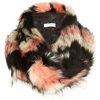 Pink faux fur snood