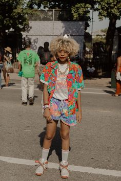 Check out 20 of the coolest street style looks from the 2016 Afropunk festival in Brooklyn. Street Style Summer, Street Style Looks, Soft Grunge, Harajuku, Lesbian Outfits, Afro Punk Fashion, Kawaii, Japanese Street Fashion, Teen Vogue
