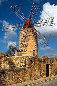 An old romantic windmill in Majorca