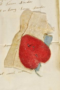 This heart cut from red woolen cloth accompanied Foundling No. 10563 as a token of affection and identification when her mother handed her over to the London Foundling Hospital on Nov. Mazda 3, Victoria And Albert Museum, 18th Century Clothing, Fabric Swatches, Textile Art, Creations, Valentines, Valentine Heart, Tela