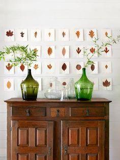 11 DIY otoñales con hojas secas | Decorar tu casa es facilisimo.com