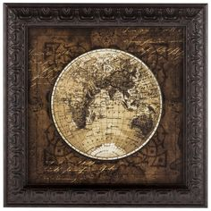 World map print 1626 world map on parchment paper by newdayprints global map i framed art x 2 one of the americas and europe gumiabroncs Choice Image