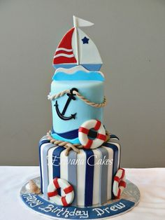 nautical anniversary cake | anniversary cakes40th wedding cake