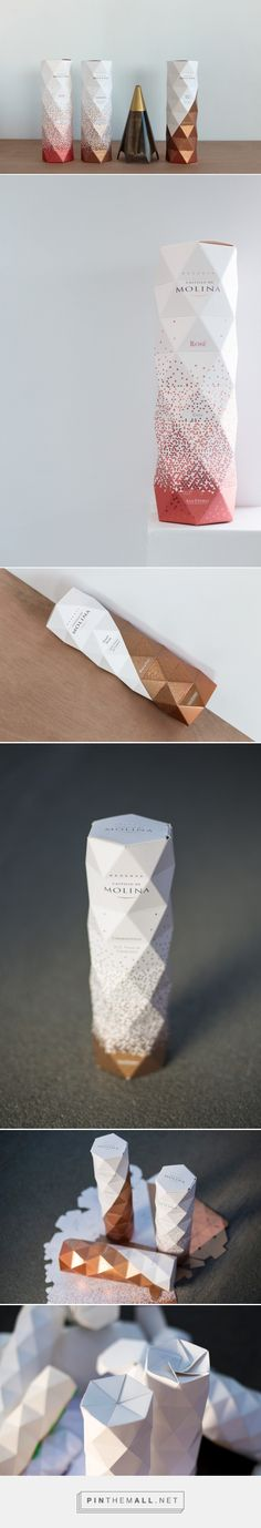 Castillo De Molina Origami packaging design by Non - http://www.packagingoftheworld.com/2017/01/castillo-de-molina-origami-packaging.html