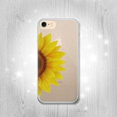 Vintage Sunflower Blue Transparent Clear Case For by Lantadesign