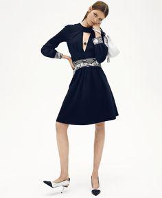 All About That Waist: Alisa Ahmann by Sean + Seng for Harper's Bazaar US August 2015 - Miu Miu Fall 2015 dress