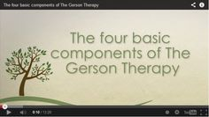 Video: The 4 Components of the Gerson Therapy : Gerson Institute
