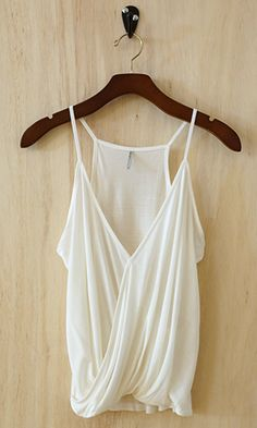 100% Modal Faux Tuck Camisole, Ivory (Great Investment Piece) - Conversation Pieces