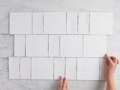White Tiles - Shop Now, Pay Later with Afterpay - Tile Cloud White Square Tiles, White Tiles, Subway Tile Patterns, Square Tile Patterns, Subway Tile Kitchen, Kitchen Splashback Tiles, Subway Tiles, Tuile, Minimalist Decor