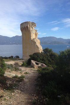 Tour de la Mortella dans le Golfe de Saint Florent Corsica, France