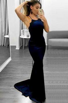 2d53a778a0c9 Charming Spaghetti Straps Open Back Long Royal Blue Prom Dresses Z1739