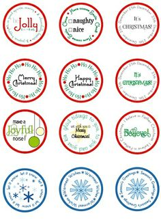 1000 Images About Printable Tags On Pinterest Christmas