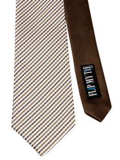 Flipmytie - Men's Brown/Off White Reversible Tie, $24.99 (http://www.flipmytie.com/mens-brown-off-white-reversible-tie/)