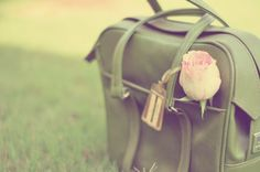 Green handled bag