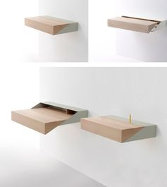Wall-Mounted Desk with Pull-Out System