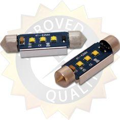 12 V T10 W5W LED lampa för bil med 1x Hög watts LED med lins