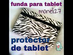 Estuche o Funda para Tablet - Como hacer funda para la tablet con sus manos - YouTube