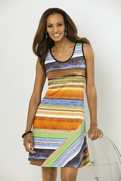 MSK mitre striped #sundress. #SteinMart