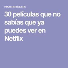 30 películas que no sabías que ya puedes ver en Netflix Movies To Watch, Good Movies, San Patrick Day, Romantic Movies On Netflix, Titanic, Movie Tv, Entertaining, Reading, Tips