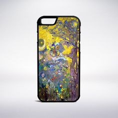 Odilon Redon - Trees On A Yellow Background Phone Case – Muse Phone Cases