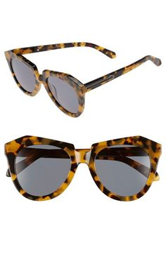 Free shipping and returns on Karen Walker 'Number One' 50mm Sunglasses at Nordstrom.com. Angular frames and signature arrow outlines dial up the retro-chic attitude of full-coverage sunglasses designed to make a statement.