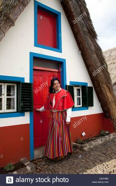 Woman Dressed In Traditional Costume From Madeira Island Outside Stock Photo, Royalty Free Image: 43332791 - Alamy