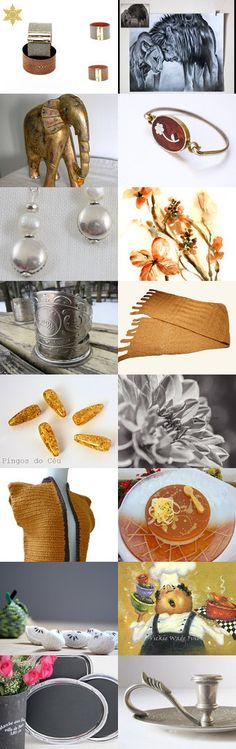 Gold and Silver by Laura P. on Etsy--Pinned with TreasuryPin.com
