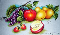 Pintura em Tecido Passo a Passo Com Fotos: Pintura Em Tecido Pano de Prato Frutas