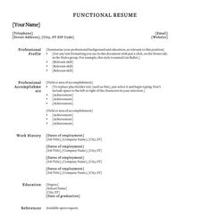 How To Create A Functional Resume Refined  Free Resume Templatehloom  Resume Examples .