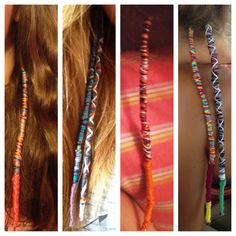 Hair wraps by Haley :)....I used to do this to my hair when I was younger lol