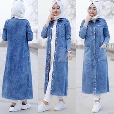 Stylish Hijab, Modest Fashion Hijab, Casual Hijab Outfit, Denim Outfit, Burqa Designs, Denim Fashion, Fashion Outfits, Modele Hijab, Muslim Women Fashion