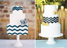 navy chevron bridesmaid dress - I like the round one but chevron on the bottom and top