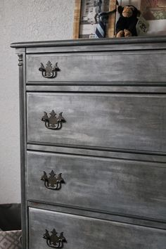 amazing faux zinc dresser with tutorial