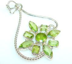 $48.50 Natural Beauty Peridot Sterling Silver Pendant at www.SilverRushStyle.com #pendant #handmade #jewelry #silver #peridot