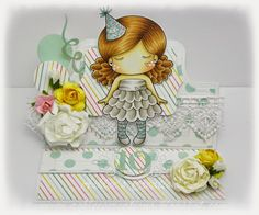From our Design Team! Card by Ashlee Bellinger featuring Paper Doll Marci (Birthday) and these Dies - May Club Kit - Balloons and Numbers :-) Shop for our products here - shop.lalalandcrafts.com  Coloring details and more Design Team inspiration here - http://lalalandcrafts.blogspot.ie/2015/05/inspirational-monday.html
