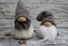 Gnomes , felted