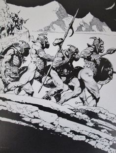 Vintage Frank Frazetta Art 1975 ORCS Lord of the Rings Tolkien Middle Earth #Vintage