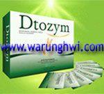 DTOZYM adalah minuman serbuk berserat tinggi dari ekstrak bahan pilihan dikombinasikan dengan enzim dan kultur probiotik yang membantu meningkatkan kesehatan saluran cerna.