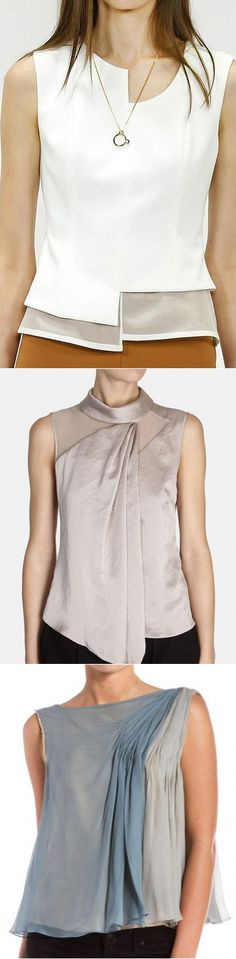 Mode Plus, Fashion Details, Fashion Design, Classy Casual, Couture Tops, Western Outfits, Contemporary Fashion, Dress Patterns, Blouse Designs