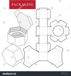 Vector Illustration of Box. Isolated White Retail Mock up - Salvabrani Box Packaging Templates, Packaging Dielines, Craft Packaging, Packaging Design, Diy Gift Box, Paper Gift Box, Diy Box, Paper Box Template, Printable Box