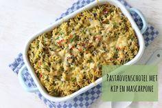 Pastaovenschotel met kip en mascarpone