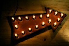 Hey, I found this really awesome Etsy listing at https://www.etsy.com/listing/164484617/18-rusty-arrow-sign-with-6w-light-bulbs