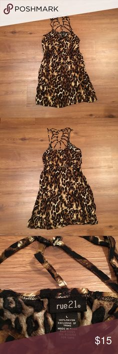 Rue21 animal print dress Size large  100% Rayon RN# 70829 Rue21 Dresses