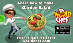 I just learnt to prepare a fantastic Garden Salad! Download World Chef for free to cook your own!:  https://itunes.apple.com/app/id1010677881  #WorldChef
