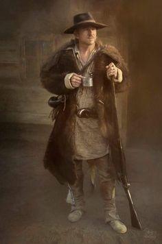 Portrait of a Mountaineer by Debi Boucher Fur Trade, Historical Art, Mountain Man, Badger, Westerns, American, Photography, Portraits, Men