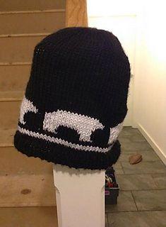 Ravelry: Polar Bear Motif Hat pattern by Holly Hollyson