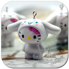 Set of 3 Pcs X 38MM X 50MM Hello kitty Pendant / by Misutikku, $8.29